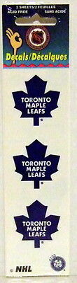 Toronto Maple Leafs (2 sheets of 3) NHL Logo Okee Dokee Sticker Decals