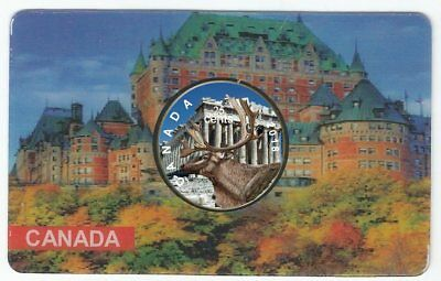 2018 Canadian Coloured Quarter Famous Places Edition The Parthenon in a Card