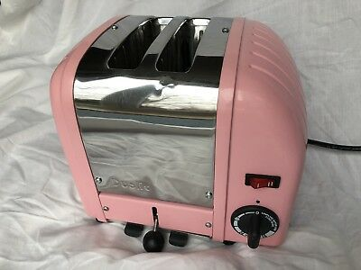 Dualit 2 Slice Toaster Model 20244, Stainless Steel And Pink