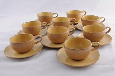 Heath Ceramics Cup + Saucer, yellow/apricot (9 available)