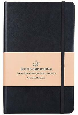 Bullet Journal - Dot Grid Hard Cover Notebook Premium Thick Paper with Fine I...