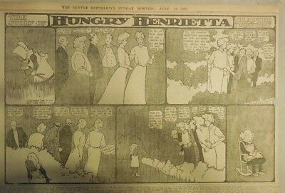 Hungry Henrietta by Winsor McCay from 6/18/1905 ! Half Page Size! 11 x 15 inches