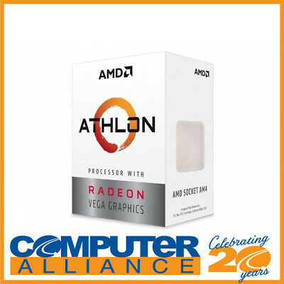 AMD AM4 Athlon 200GE Dual Core 3.2GHz Radeon CPU YD200GC6FBBOX Vega 3 Graphics