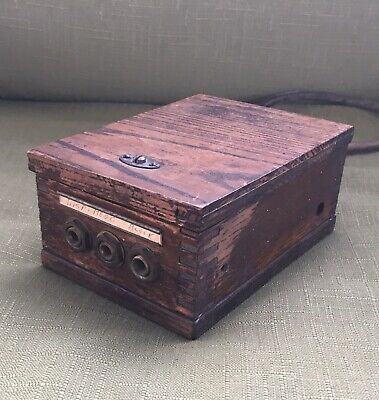 Antique or Vintage Telephone ? Telegraph ? Switchboard ? Dovetail, Wood Box Part