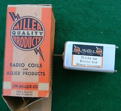 Vintage  NOS Miller Quality Products 73-A Radio Coil With Original Box