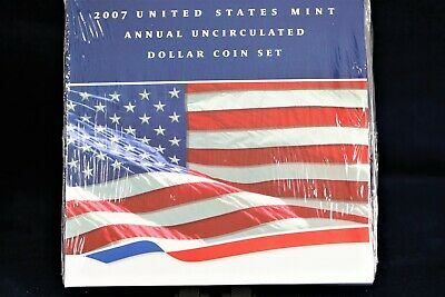 2007 6 Coin US Mint Annual Uncirculated Dollar Set Mint Sealed w/ 1oz Silver