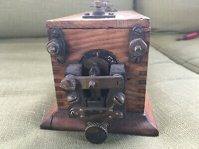 Antique or Vintage Telephone Telegraph Relay Capacitor ???? Dovetail, Wood Part