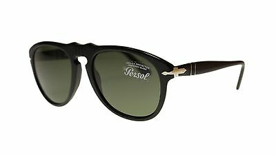 74f12d09d2b Persol Men s Sunglasses PO0649 95 31 Black Green Lens Aviator 52mm Authentic