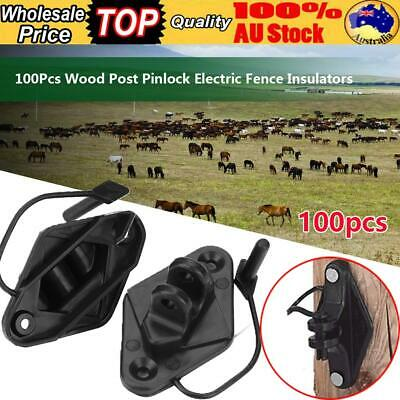 Pinlock Insulator 100 Pack Wood Post Star Picket Post Electric Fence Wire Poly