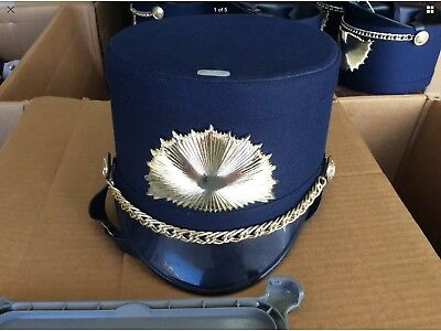 83c2461a333 Demoulin Navy Blue Gold Marching Band Hat Size Large L Nice PreOwned USA  Costume