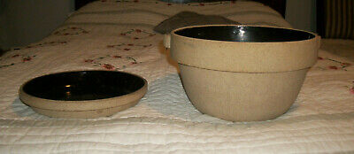 COOK RITE stoneware pie plate and pot