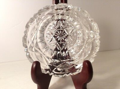 Candy/Nut Dish CrystalBrilliant CutGlass Vintage/antique 4 1/2 inches