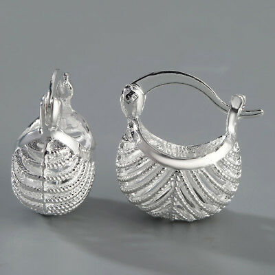 Fashion Women Silver Ear Stud Hoop Dangle Earrings Wedding Bridal Jewelry Gifts