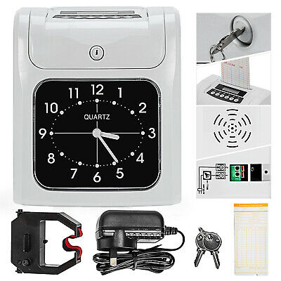 Employee Time Attendance Time Clock Electronic Recorder Bundy Timecards w/ Cards