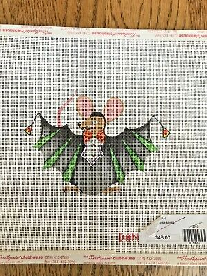 Handpainted Mouse Bat Needlepoint Canvas by Danji for Halloween