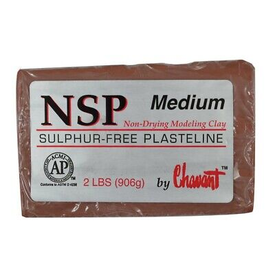 Chavant NSP Medium Brown Sculpting and Modeling Clay (1/4 Case)