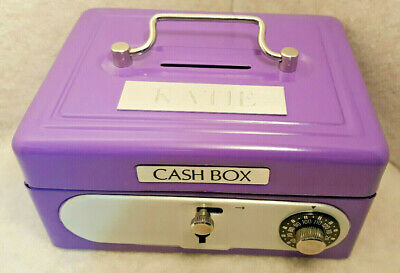 Children CASH BOX Metal Coin Cash Bank with Toy Combination Lock - Lockable**