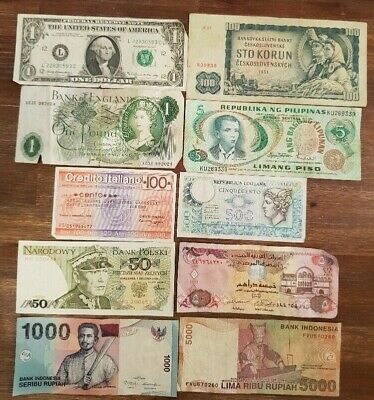 MIXED REGIONS - 10x Bank Notes in varying conditions