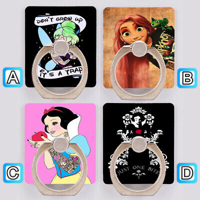 Tangled Tinkerbell Snow White Princess Ring Mobile Phone Holder Grip Stand Mount