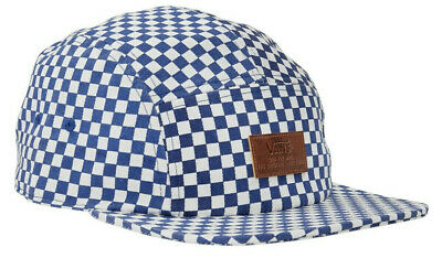 5b2341ef69d Vans Off The Wall Men s Davis 5 Panel Camper Hat Cap - Blue White Checkered