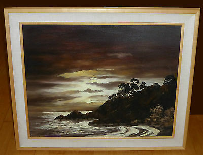 Roger M. Upton (1900-1988) Seascape Oil On Canvas Signed California Listed