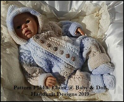 fccfb44aa BABYDOLL HANDKNIT DESIGNS Knitting Pattern F134 All In One 16-22 ...