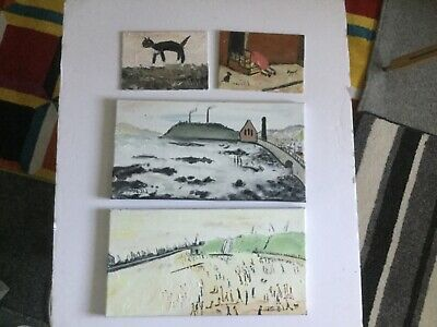 """"""" Four  Paintings  """". Original Oil Painting direct from artist john goodlad"""