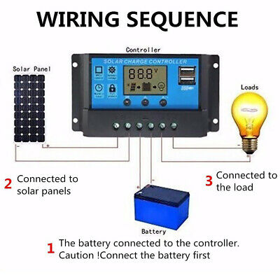 LCD Solar Panel Power Charge Controller Battery Regulator 12V/24V 10A/20A/30A