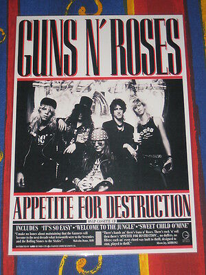 Guns N And Roses - Appetite For Destruction  -  Laminated Promo Poster