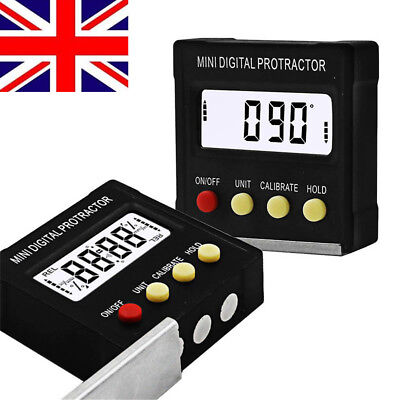 Magnetic Base Digital Protractor Angle Gauge Finder Inclinometer level Box UK