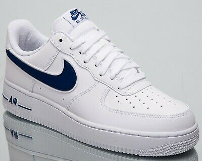 new arrival c7d4e f8a1b Nike Air Force 1 07 3 New Mens Lifestyle Shoes White Deep Royal Low AO2423