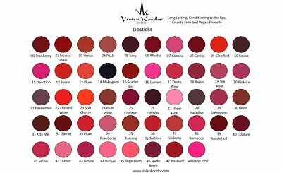 Vivien Kondor - Vegan Friendly Lipstick (1-10) BUY ONE GET A SURPRISE ONE FREE