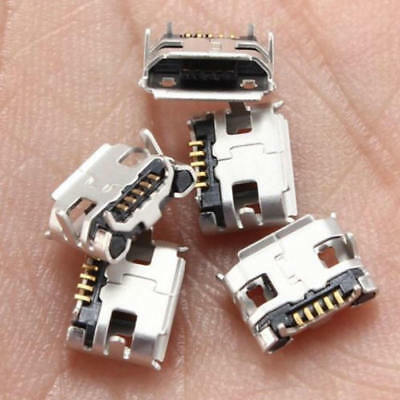 20 x Pcs Micro USB Type B Female 5 pin SMT Placement SMD DIP Socket Connector UK