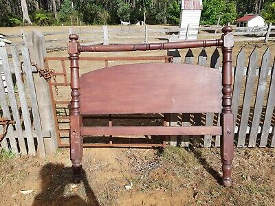 Antique Colonial Blackwood bedhead c1850