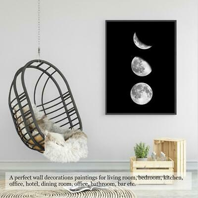 Moon Phases Canvas Painting Rimless Paintings on Wall Art for Home Room Decor