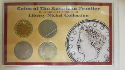 4 Coins Of The American Frontier 1901-1907 Liberty Head Nickel Collection