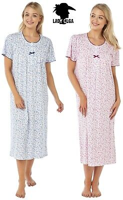 NEW Ladies 100/% Cotton Skirted Nightdress//Loungewear /'Rise and Shine/'
