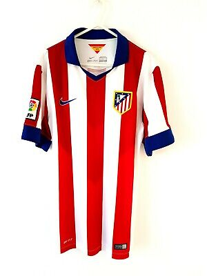 Atletico Madrid Home Shirt 2013. Medium. Nike. Red Adults Football Top Only M.