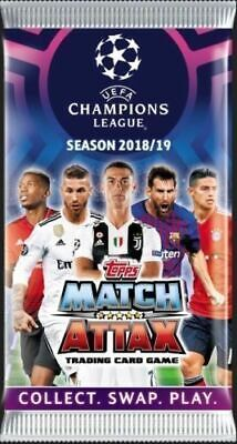 2018 2019 Topps UEFA Champions League Soccer Match Attax 1 x Sealed Pack 6 Cards