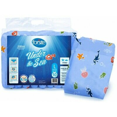 Forsite Under The Sea - Pack of 10 - Large Adult Nappy Diaper