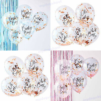 Baby Shower Confetti Balloons Pink/Blue/Rose Gold Decoration Twinkle Twinkle x 5