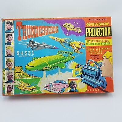"THUNDERBIRD""S Chad Valley Give a Show Projector - Boxed & Complete Vintage 1966"