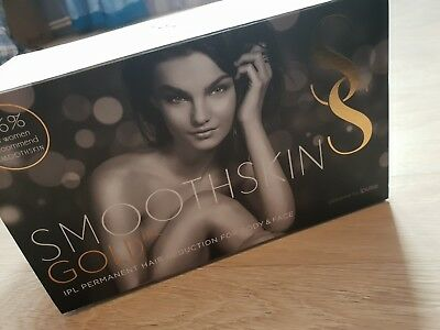 Smoothskin Gold IPL Permanent Face & Body Hair Removal Gift for Her
