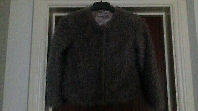 Next Girls Age 10 Years Fur Coat Worn Once with the Bridesmaid Dress Listed
