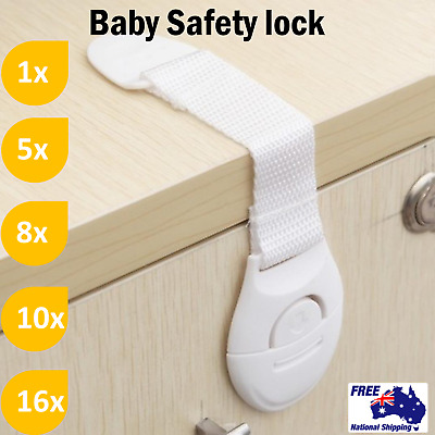 Kid Baby Safety Drawer Door Lock Cupboard Cabinet Belt Child Adhesive Safety AU