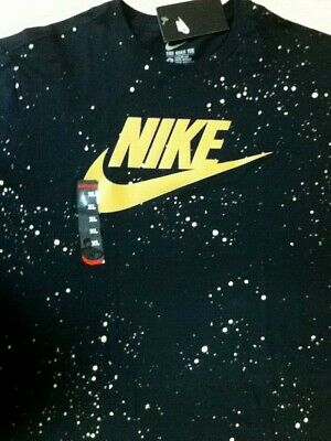 AUTHENTIC NIKE AJ FLIGHT FRONT//BACK PRINT BLACK//GOLD TANK TOP AJ1394-013