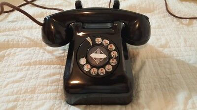 LEICH ROTARY PHONE 30LDW MODEL WALL DESK LATE 1930's NOT WESTERN ELECTRIC