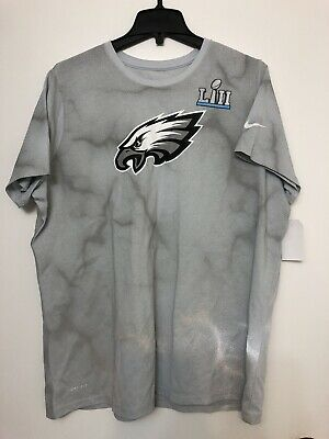 f2950ca357b Nike Mens PHILADELPHIA EAGLES SUPER BOWL LII BOUND MEDIA NIGHT T-SHIRT Sz M-