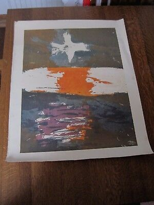 RARE Vintage 1969 SISTER CORITA KENT 'MAGPIE IN THE SKY'  Signed LITHO U S A