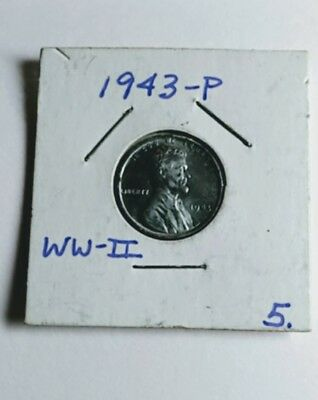 1943 P Lincoln Steel Wheat Cent Penny Uncirculated Toned Mint Error